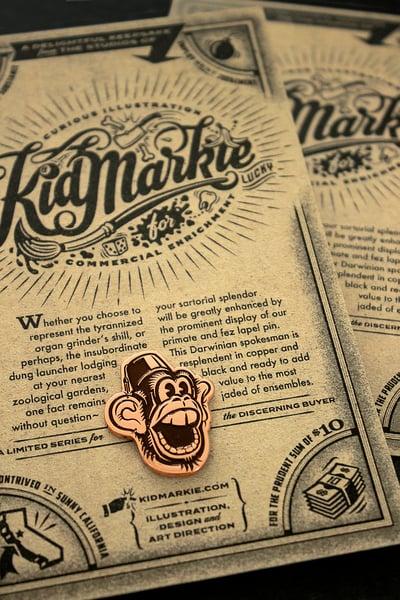 Image of Monkey & Fez Lapel Pin