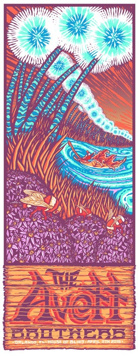 Image of The Avett Brothers • '15 Orlando Screen Prints (Night 1 and/or Night 2)