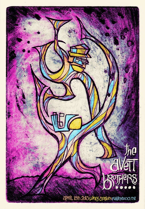 Image of The Avett Brothers • '15 Kalamazoo Screen Print