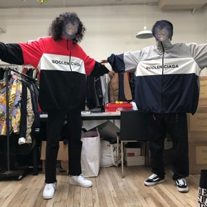 Image of Red Boolenciaga Oversized Tracksuit