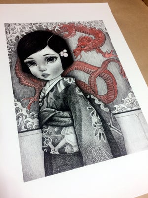 Image of A Tapestry of Dragons Limited Edition Print by Raul Guerra
