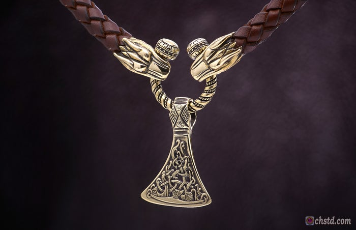 Image of VIKING AXE - Pendant, Handmade, Outstanding details<br>New Year >> SALE!<br>The price is reduced!