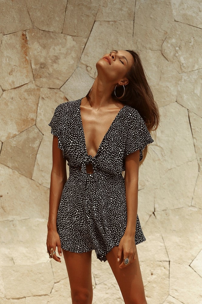 Image of PASCALES PLAYSUIT - Black Beauty