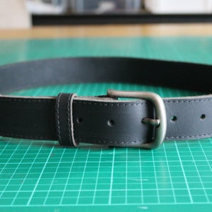 Image of Thick Black belt 30-35""