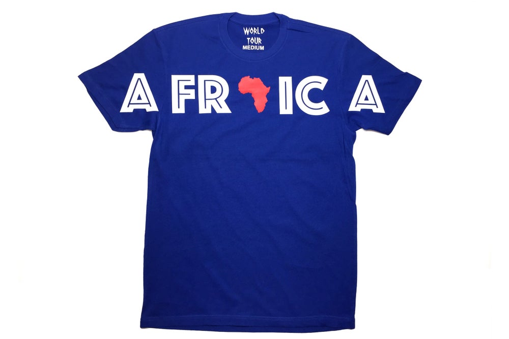 "Image of World Tour ""Africa"" T-SHIRT ROYAL"