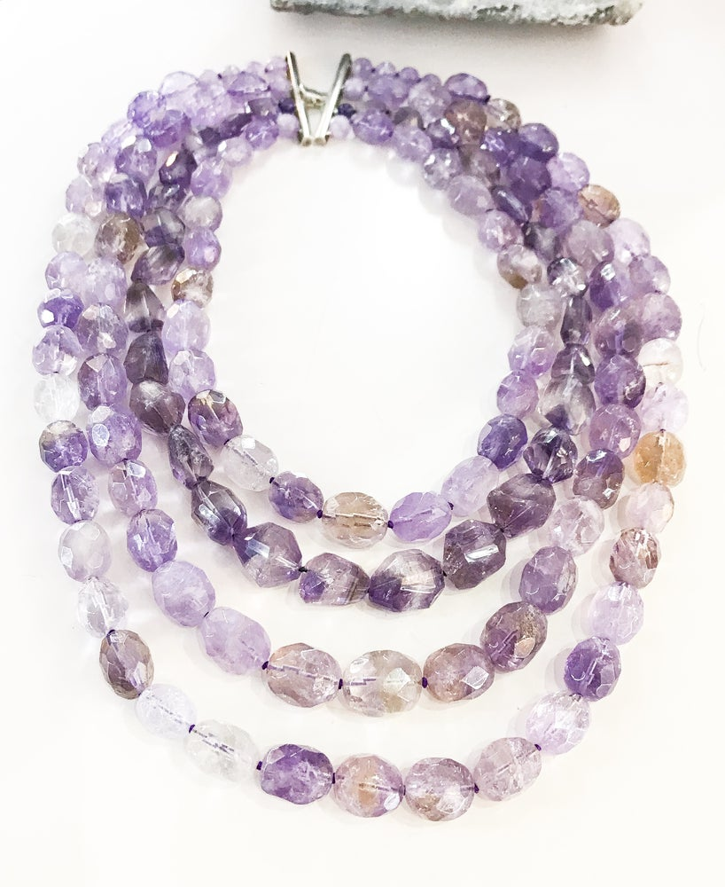 Image of 4 Row Ametrine Necklace