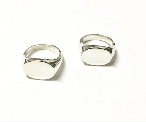 Image of Oval Signet Ring in Sterling Silver