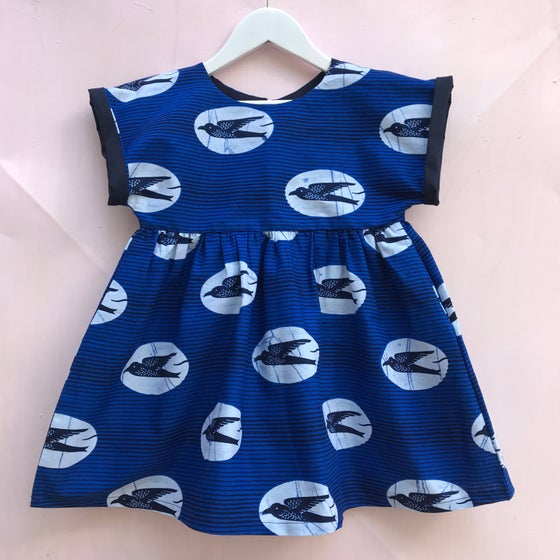 Image of Ida dress in Swallows