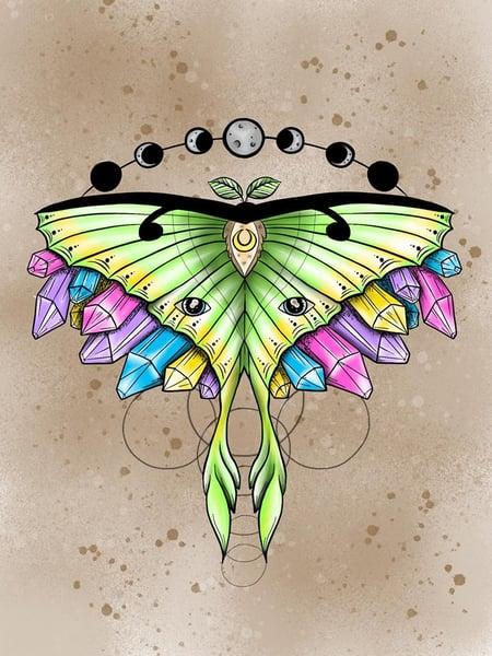 Image of 'Luna Moth' giclee print