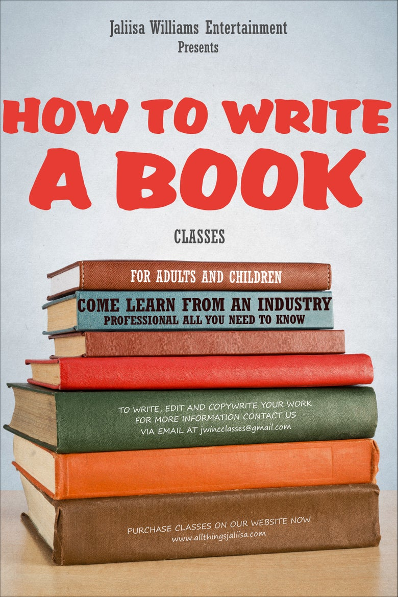 Image of How To Write A Book Class