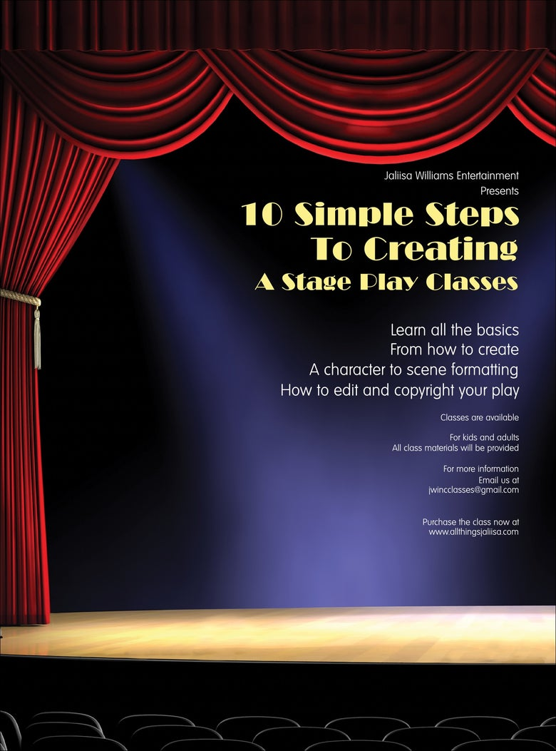 Image of 10 Simple Steps To Creating A Stage Play Class