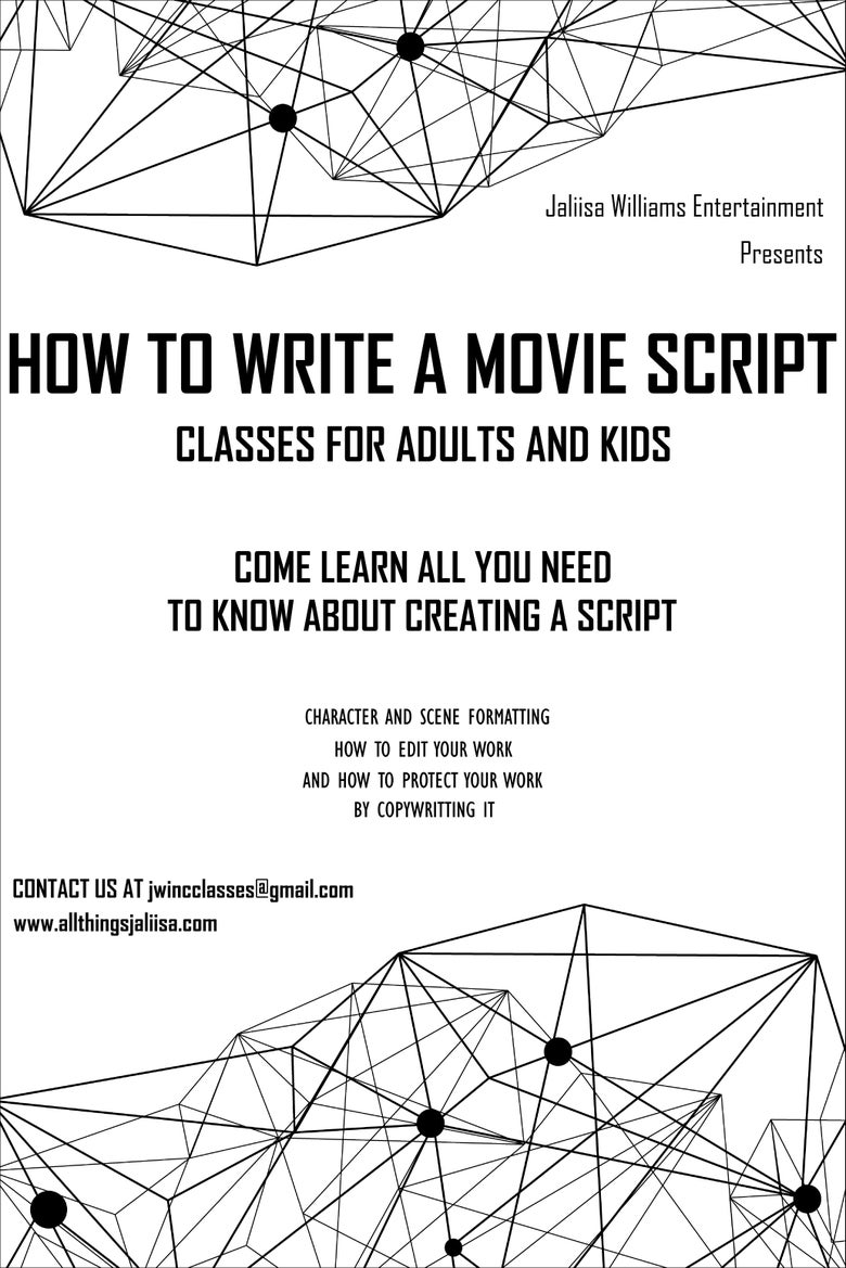 Image of How To Write A Movie Script/Screenplay Class