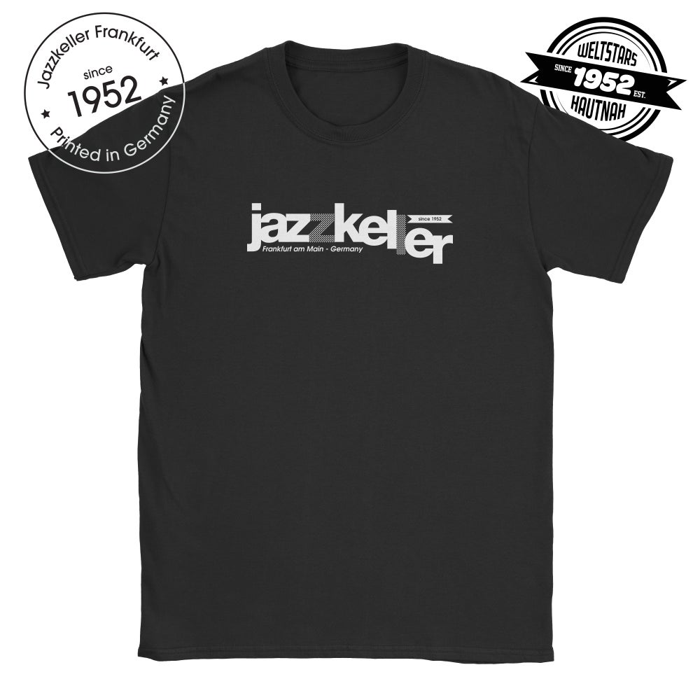 Image of JK classic black and white shirt printed in Germany