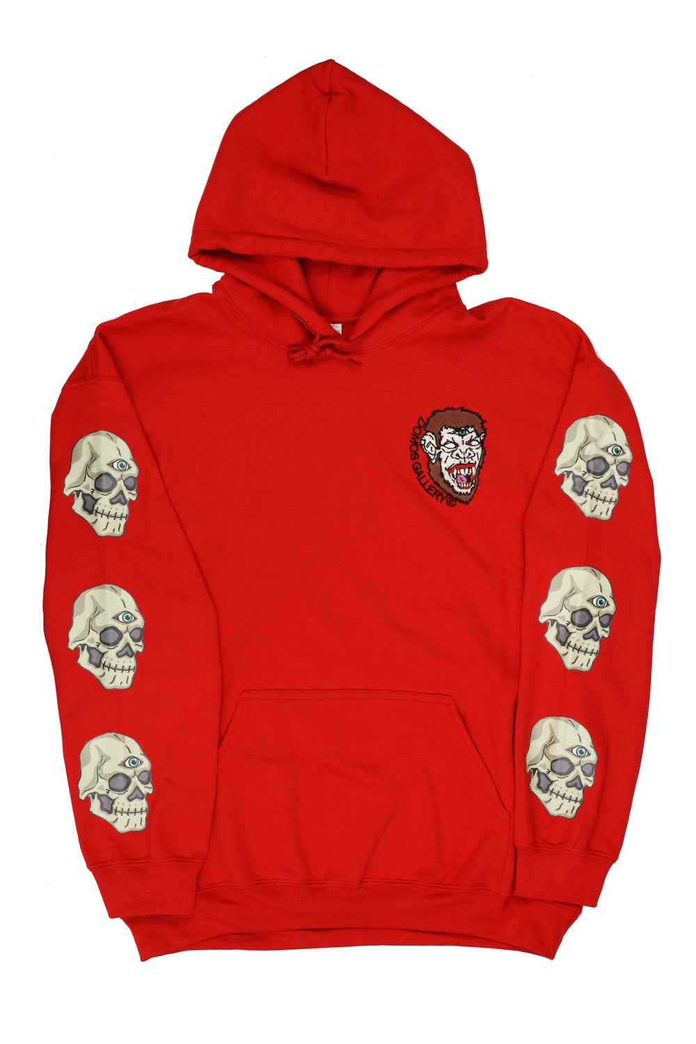Image of Red 'Smoking Mirrors' Hoody