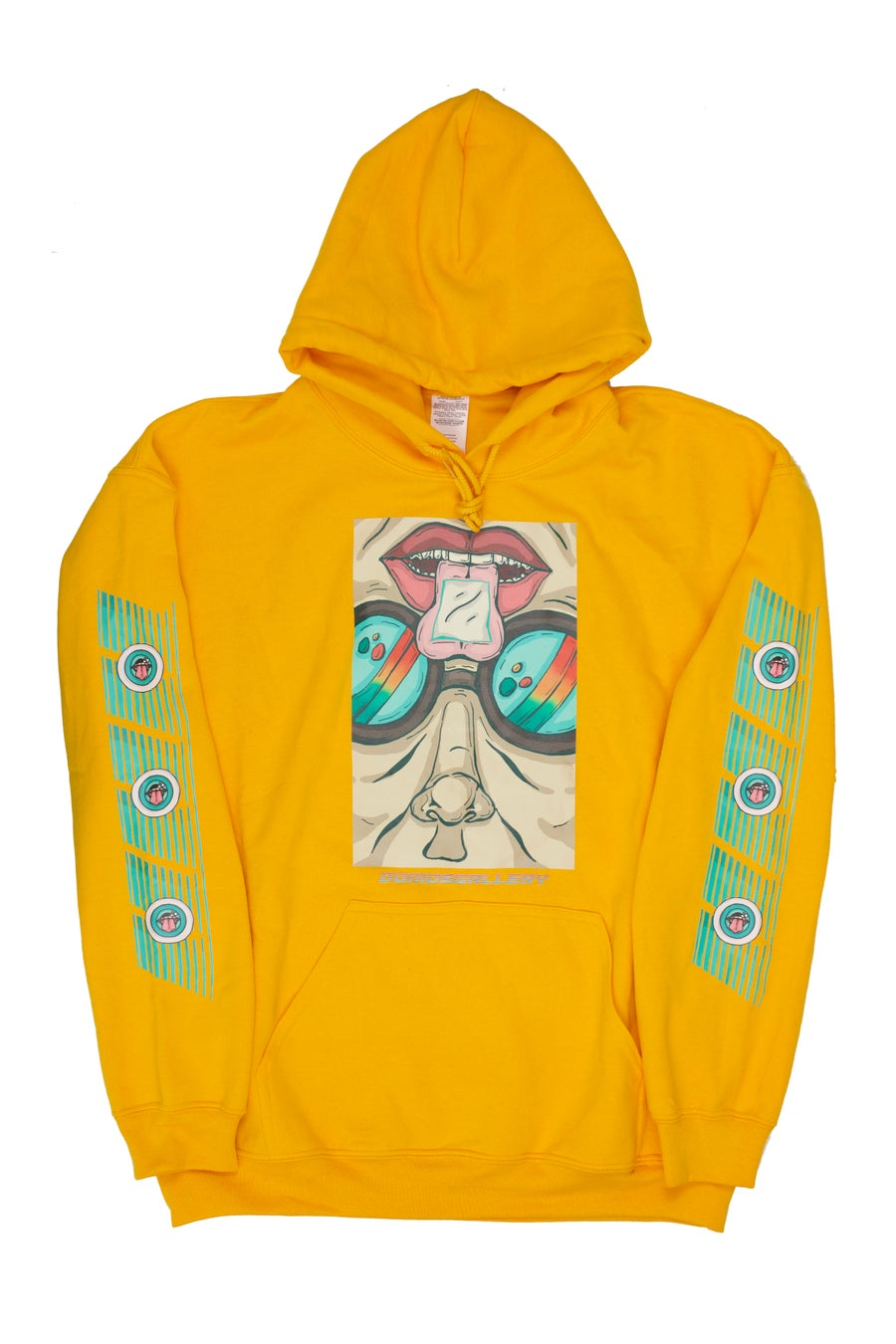 Image of Yellow 'Hacker' Hoody