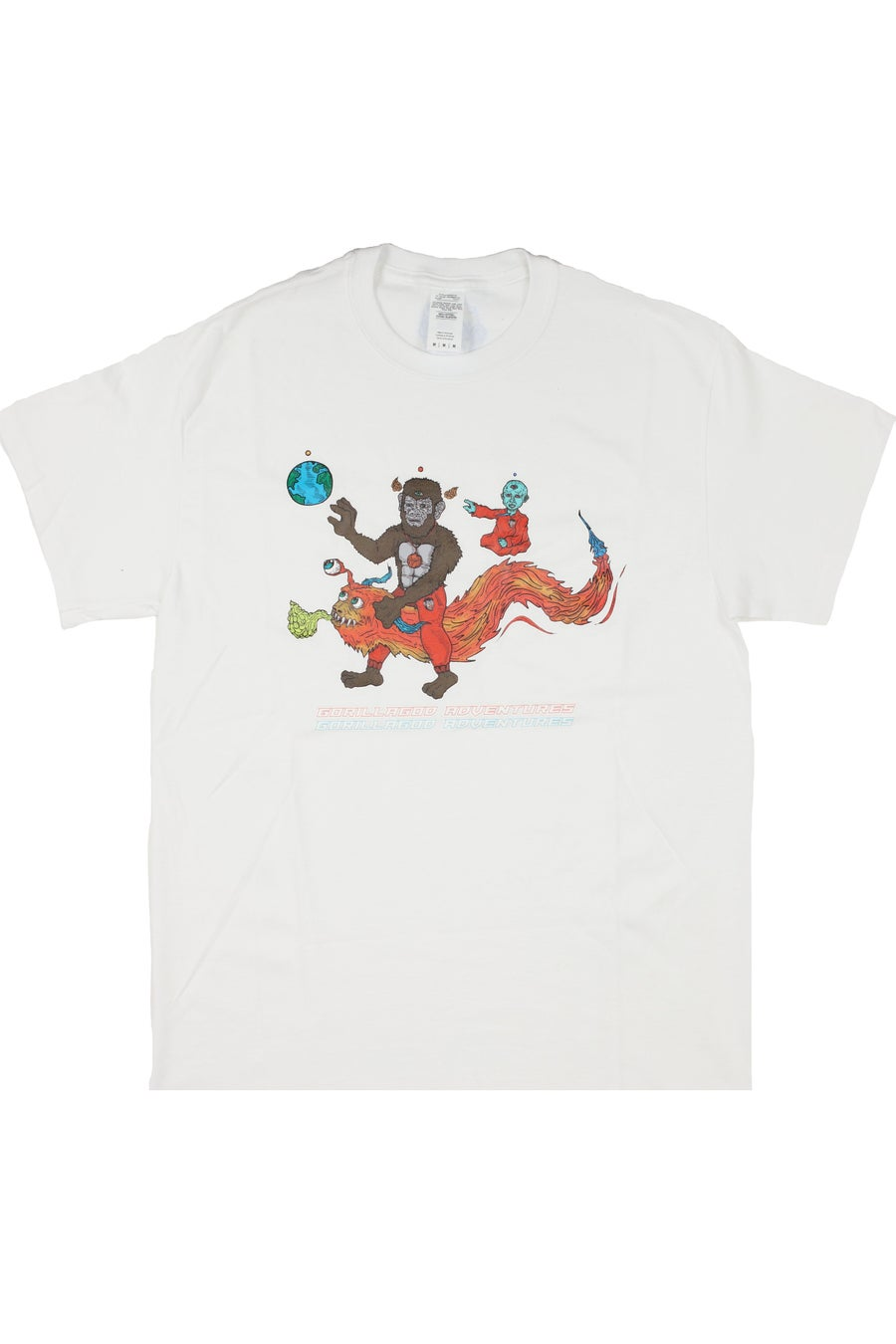 Image of White 'Gorilla God Adventures' T-Shirt