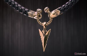 Image of Spearhead of GUNGNIR : Spear of Odin - Leather Necklace