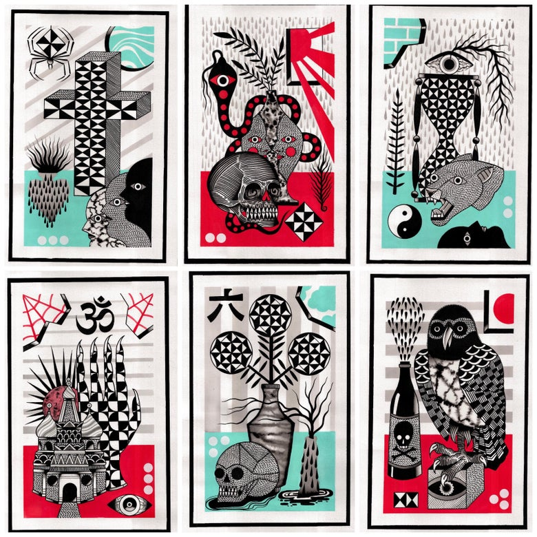 Image of Set with 6 prints