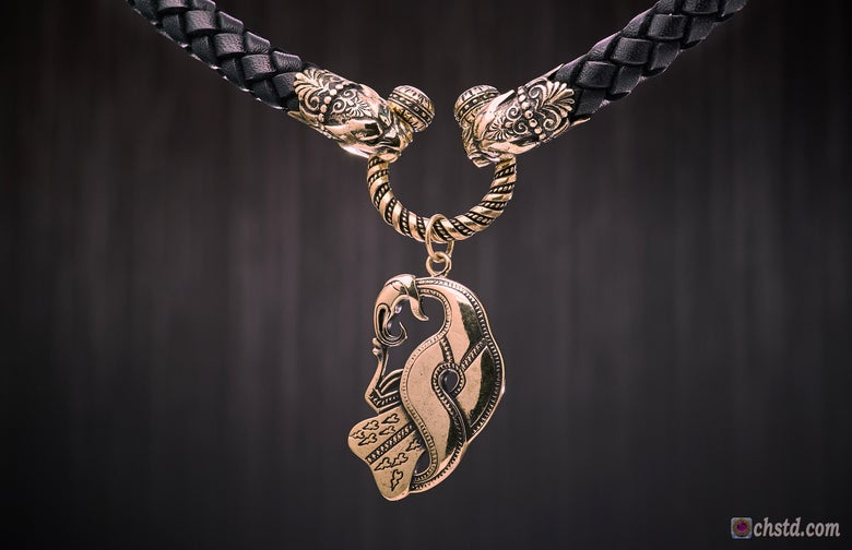 Image of Odin's Raven - Leather Necklace