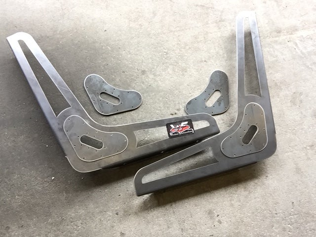 Image of DIY Bomber Seat - FRAMES ONLY - with Side Cutouts -  One Pair