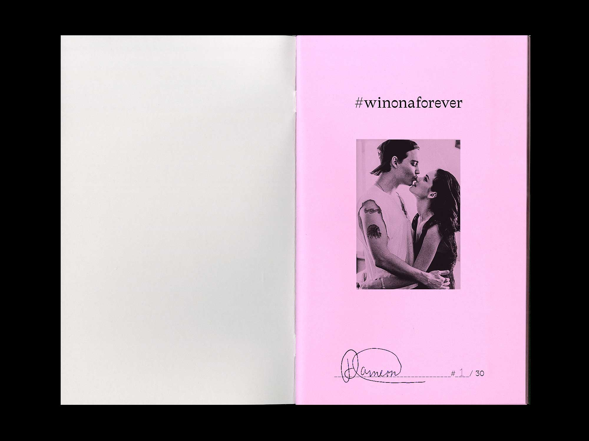 Image of #winonaforever artist book