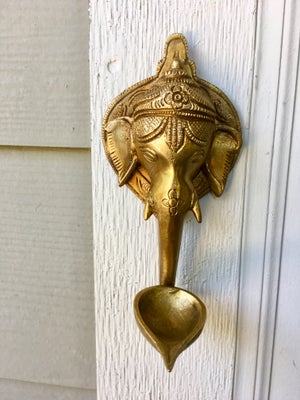 Image of Ganesha Diya (lamp) wall hook