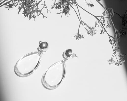 Image of Crystal Tear Drop Earrings