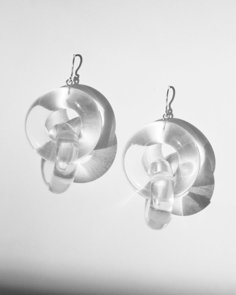 Image of Double Link Acrylic Earrings