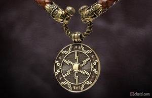 Image of Odin's Shield - Leather Necklace