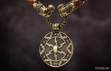 Image of Odin's Shield - Leather Necklace