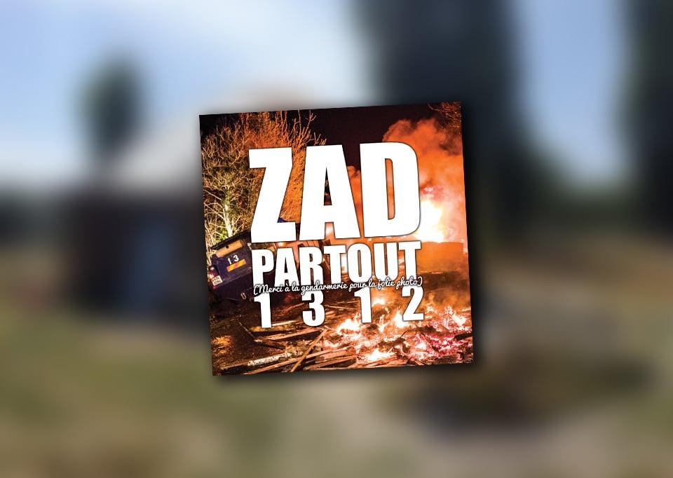 """Image of Lot de 100 autocollants (""""ZAD PARTOUT"""")"""