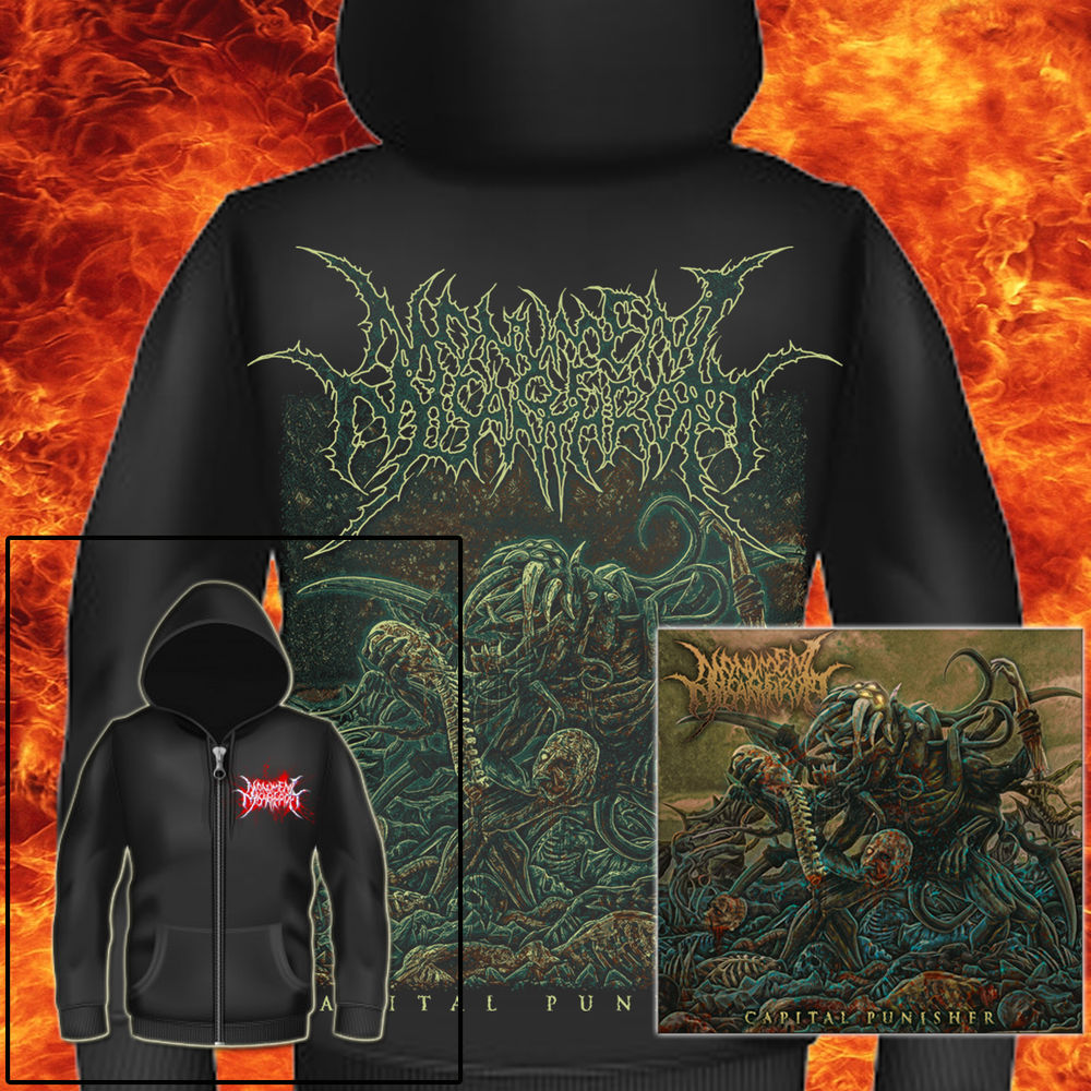 "Image of MONUMENT OF MISANTHROPY - ""CAPITAL PUNISHER"" EP & ZIP HOODIE BUNDLE"