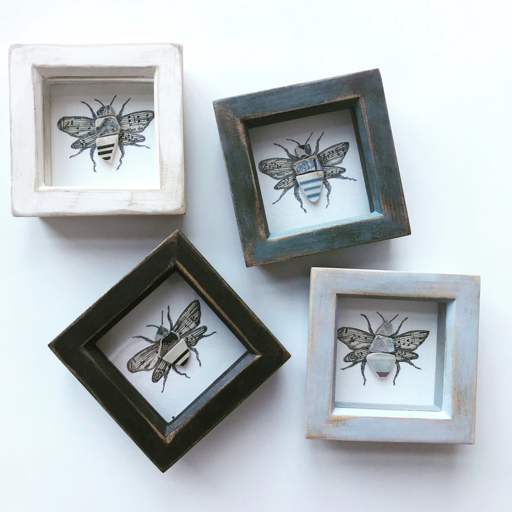 Image of Handmade Bee Mudlark Collage Frame by The Mudlark