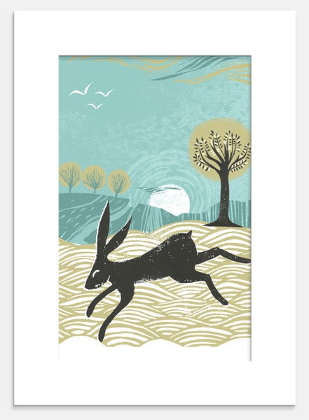 Image of Winter Hare Print