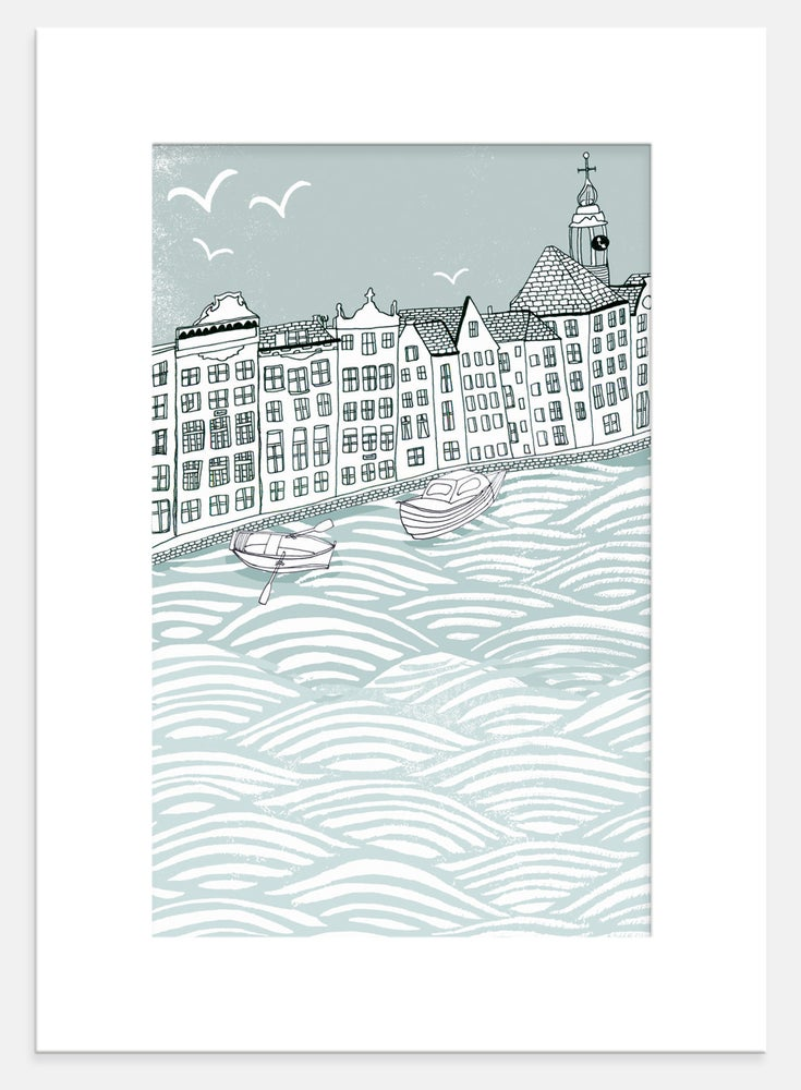 Image of Amsterdam Houses Print
