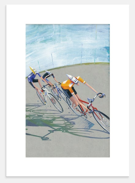 Image of Bike Race Print