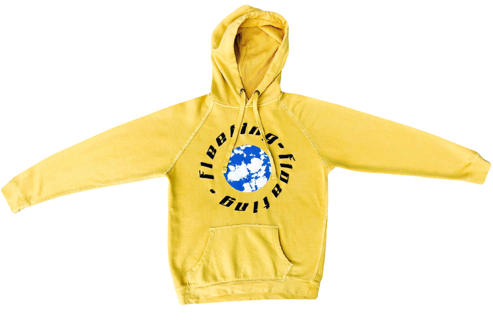 Image of FLEETING ---- FLOATING     HOODED   WAFFLE SWEATSHIRT