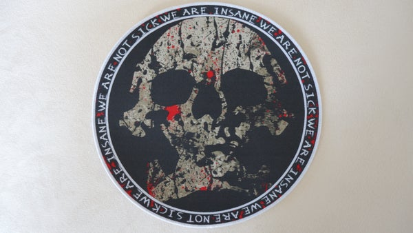 Image of -We are not sick- Skull Patch big