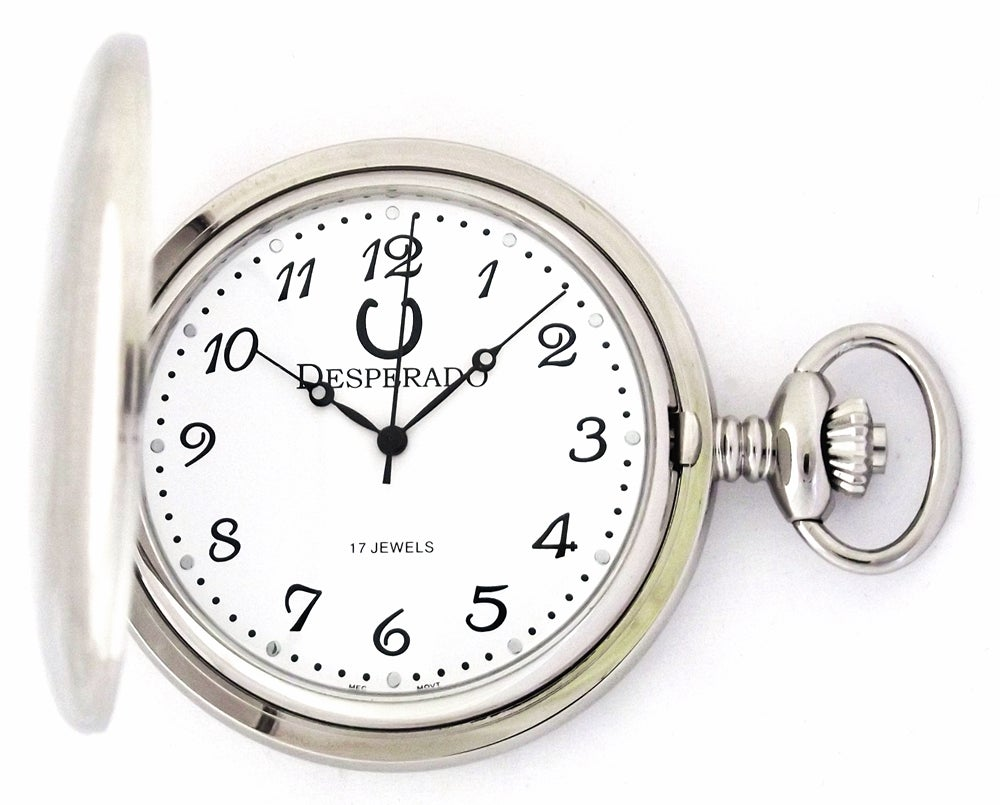 "Image of Desperado 730W ""Santa Fe"" Wind Up Mechanical Pocket Watch"