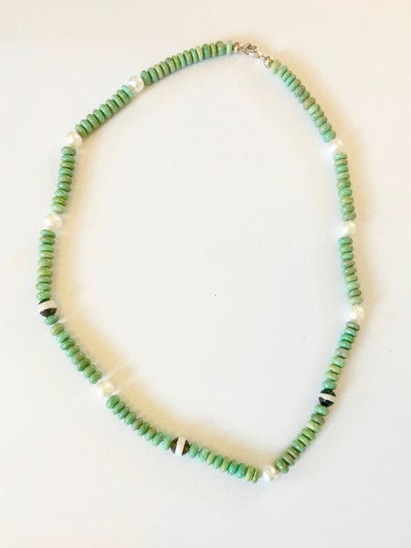 Image of Turquoise, Agate, and Pearl Necklace by FAI