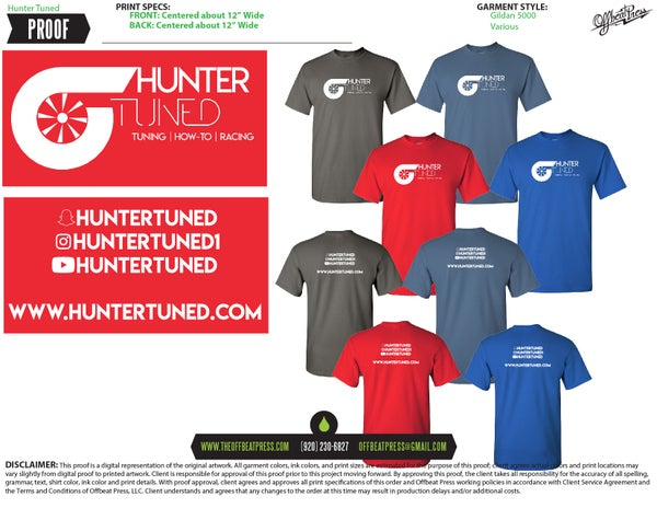 Image of HunterTuned T Shirts!