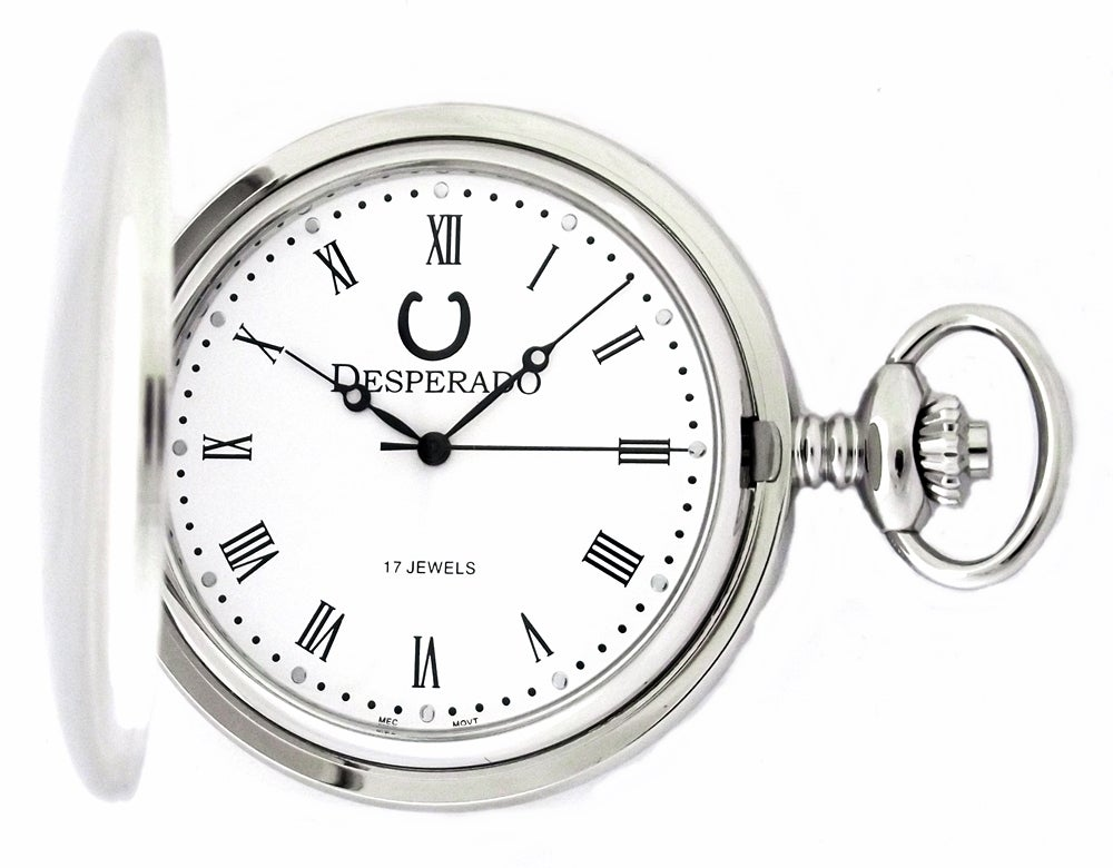 "Image of Desperado 731W ""Rio Grande"" Wind Up Mechanical Pocket Watch"
