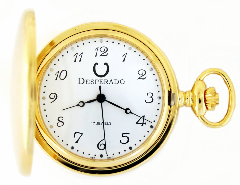 "Image of Desperado 730G ""Santa Fe"" Wind Up Mechanical Pocket Watch"
