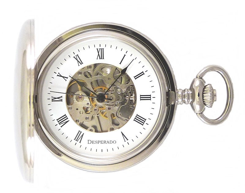 "Image of Desperado 729W ""Lincoln City"" Wind Up Mechanical Pocket Watch"