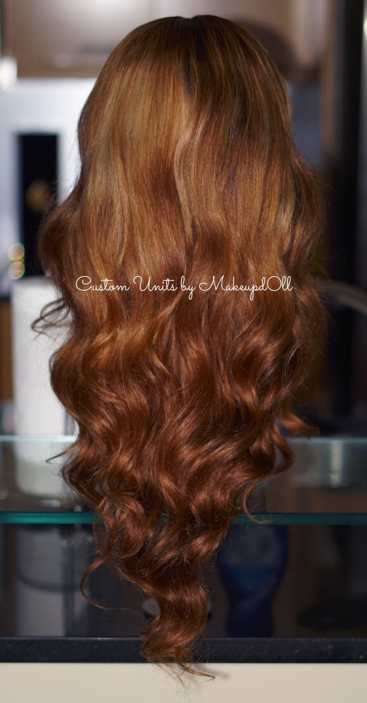 "Image of ""Golden Brown"" Peruvian Body Wave 24"" Lace Closure Wig!"
