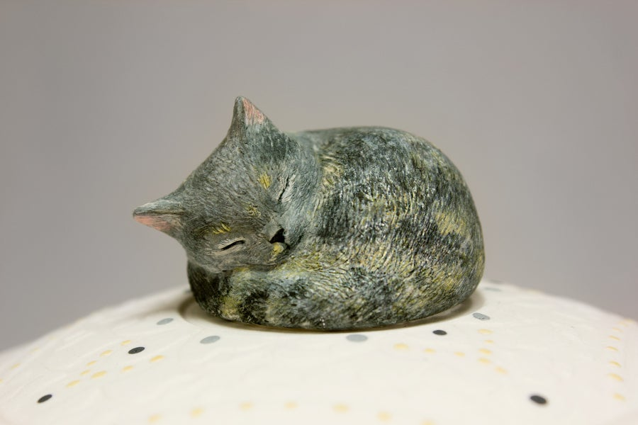 Image of Tortoiseshell Cat Custom Pet Urn