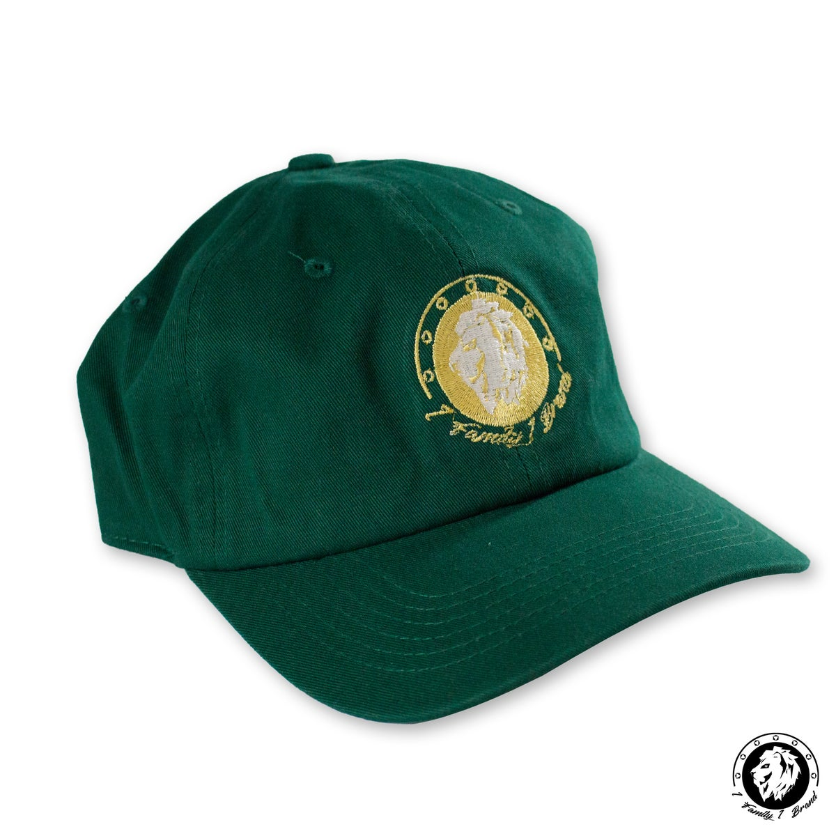 Image of Dad Hat (Hunter Green/Gold)