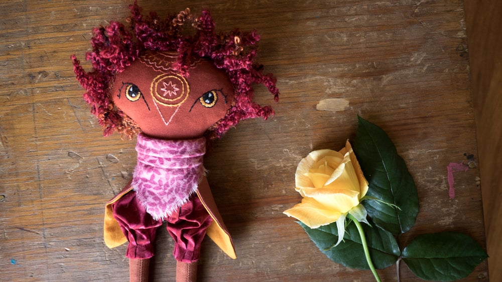 Image of Curly Shorty Owl Mandala Doll
