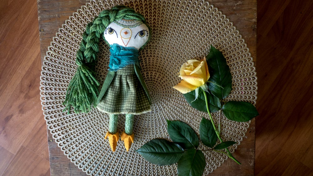 Image of Green Shorty Owl Doll
