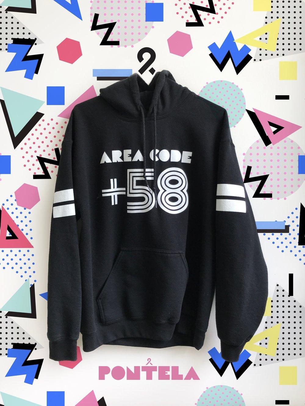 Image of +58 Hoodie / Black